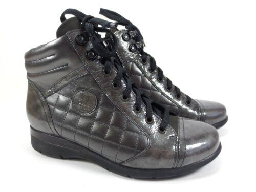 225 37 Halli 5 H Uk Gr Stiefeletten Schuhe Boots Grau 5 4 Lack Leder Waldläufer 4n68wqdR8
