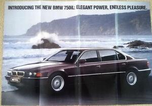 Bmw 7 Series E38 750il Prestige Wall Poster Sales Ad Brochure 750 740 Il 740i Ebay