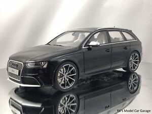 GT Spirit Audi RS B Avant Door Wagon Black Resin Model Car - Audi rs4