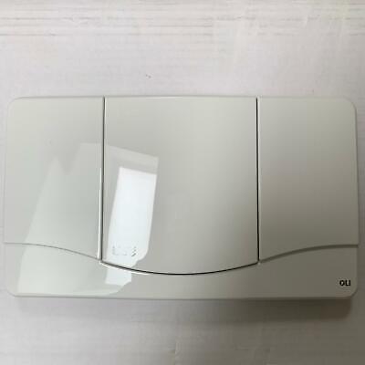 OLI Slim  weiß Betätigungsplatte Drückerplatte Spülkasten Bedienplatte