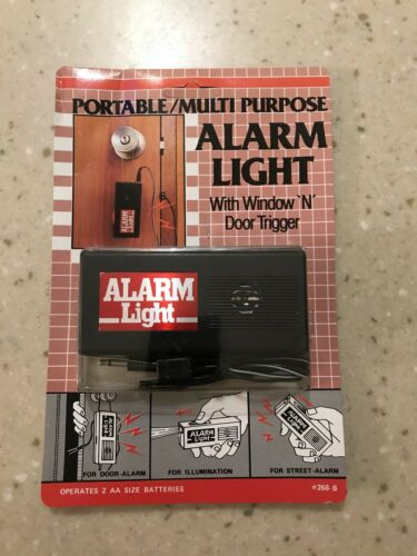 Portable Multi Purpose Alarm Light With Window /'N/' Door Trigger **NEW**