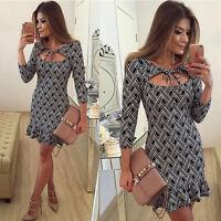 Damen Sexy Abendkleid Partykleid Minikleider Cocktailkleid Kleid Gr.34-42