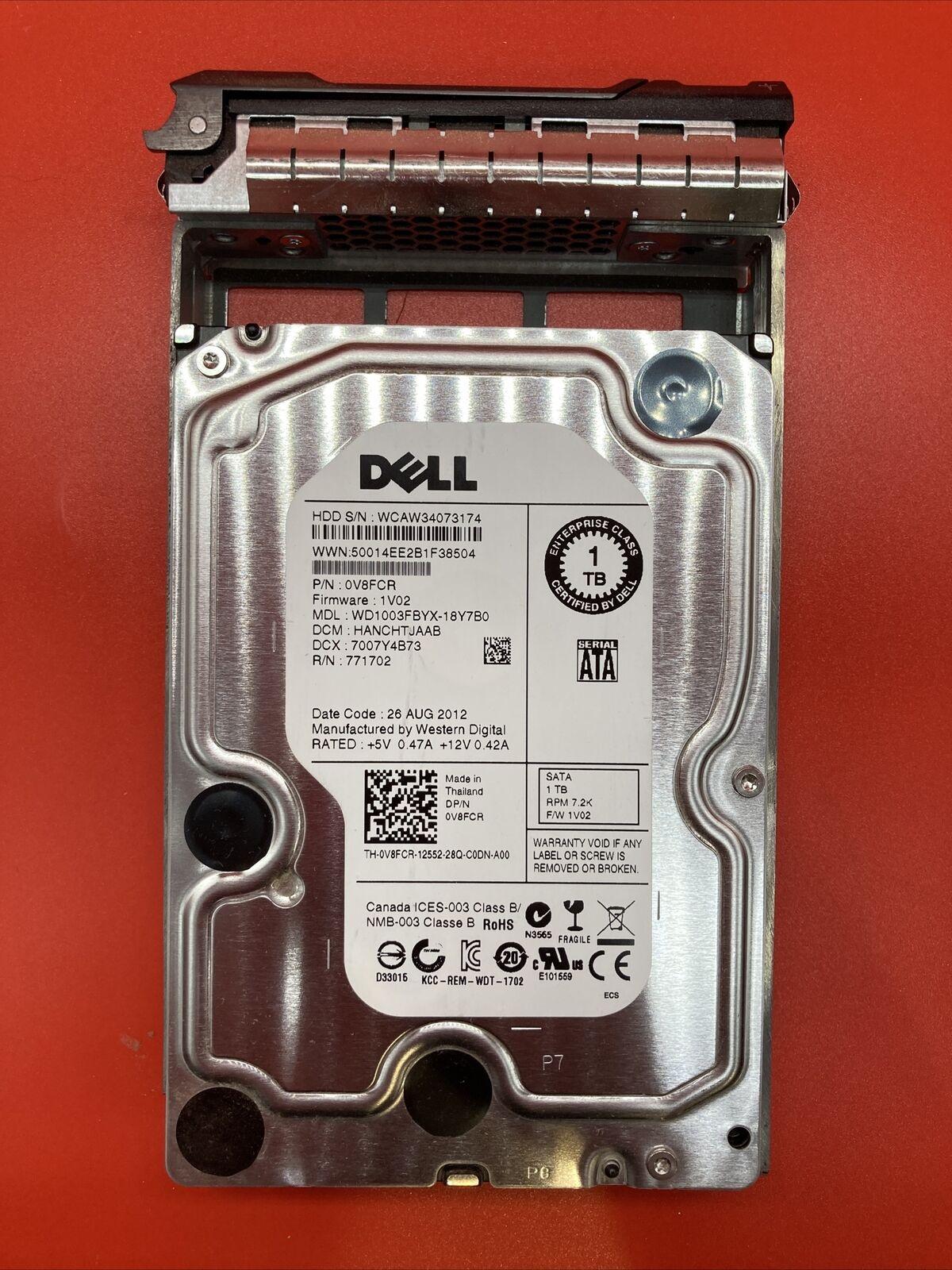 Dell 0V8FCR 1TB 7.2k RPM 3.5 SATA-3Gb//s HDD