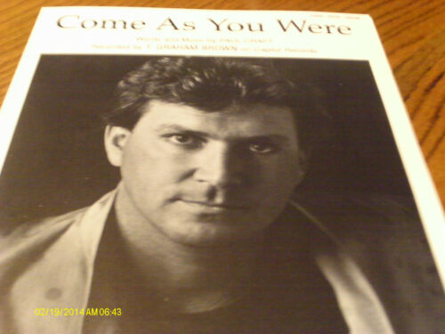 T Graham Brown Come As You Were 1980  Photo Sheet Music