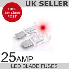 LED 25A Amp Standard Blade Fuses *Quantity 10*