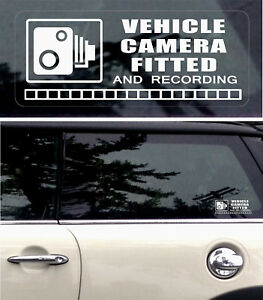 3-REVERSE-Warning-Stickers-CCTV-Video-Camera-Recording-Car-Vehicle-Window-Sign