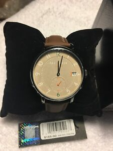 57c0cb17ad3 NIB TED BAKER TE50655002 OSCAR Men s GUNMETAL Watch BROWN Leather ...
