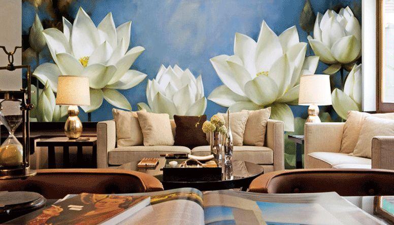 3D loto bianco 26 Parete Murale Foto Carta da parati immagine sfondo muro stampa