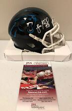 Luke Kuechly Autographed Carolina Panthers Black Matte Mini Helmet BAS