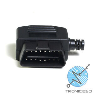 OBDII-OBD2-16-PIN-CONNECTOR-PLUG-MALE-SOLDERABLE-Side-cable-Exit-UK-1stClass