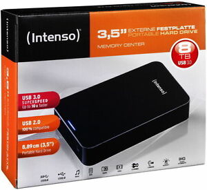Intenso HDD externe Festplatte Memory Center 3,5 Zoll 8TB USB 3.0 schwarz