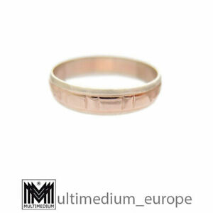 585er-Rotgold-Gelbgold-Freundschafts-Ring-Ehe-Trau-ring-14ct-gold-14k