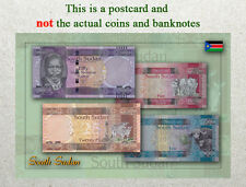 Postcard: South Sudan Circulating Coins and Currency (Banknote) 2013