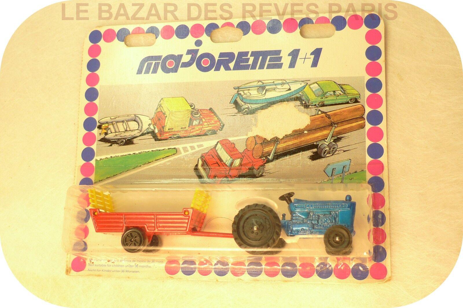 MAJORETTE FRANCE. Tracteur + remorque.  ancien état neuf