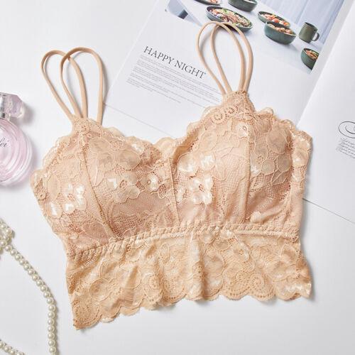 Women Seamless Bras Underwear Bra Push Up Bralette Wire Free Lace BrassieES