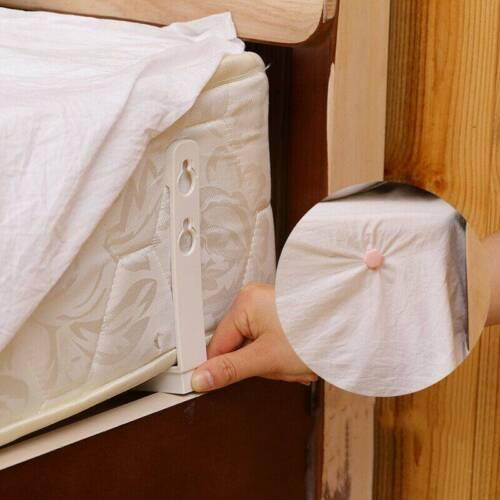 4PCS Bed Sheet MATTRESS Holder Fastener GRIPPERS Clips SUSPENDER Straps UK
