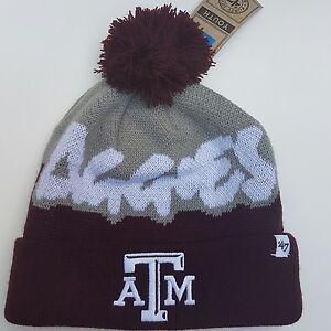 e352c6f1 Details about '47 Brand Texas A&M Aggies Youth Knit Beanie Cap Ski Hat Pom  Pom Team Skully. '
