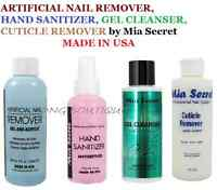 Mia Secret Nail Remover, Gel Cleanser, Hand Sanitizer, Cuticle Remover Usa