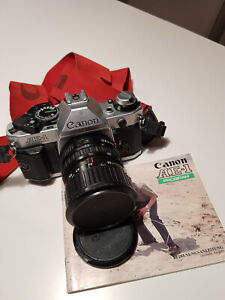 Canon AE-1 Program, Canon Vario Objektiv FD 35-70 mm, silber, gebraucht