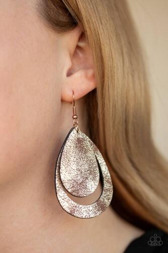 Copper Paparazzi Jewelry Earring ~ Fiery Firework