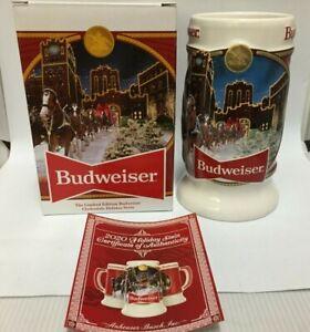 Budweiser Christmas Stein 2020 2020 Budweiser Holiday stein beer mug from annual Christmas series