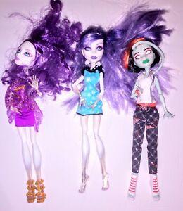 Monster-High-Dolls-Lot-of-3
