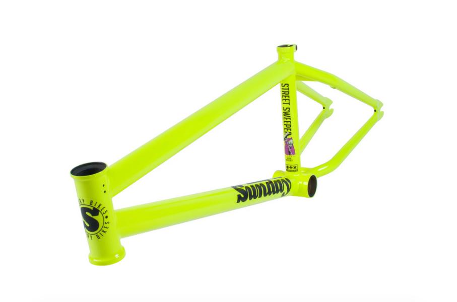 SUNDAY STREET SWEEPER 20.5 FLUORESCENT giallo JAKE SEELEY BMX BIKE FRAME