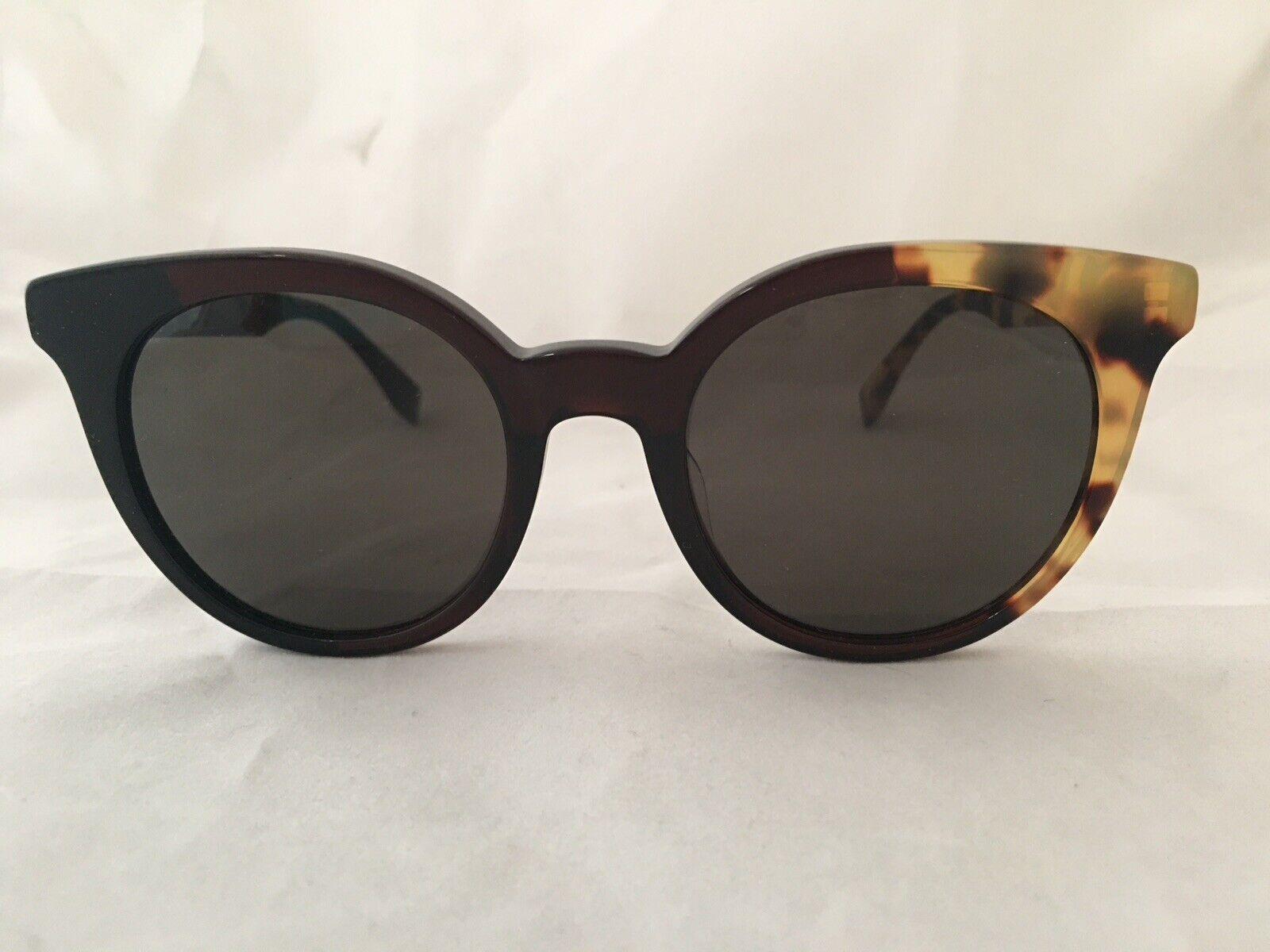 FENDI Sunglasses FF 0064/S Black/Brown/Havana Gray Lens 51/21/140mm