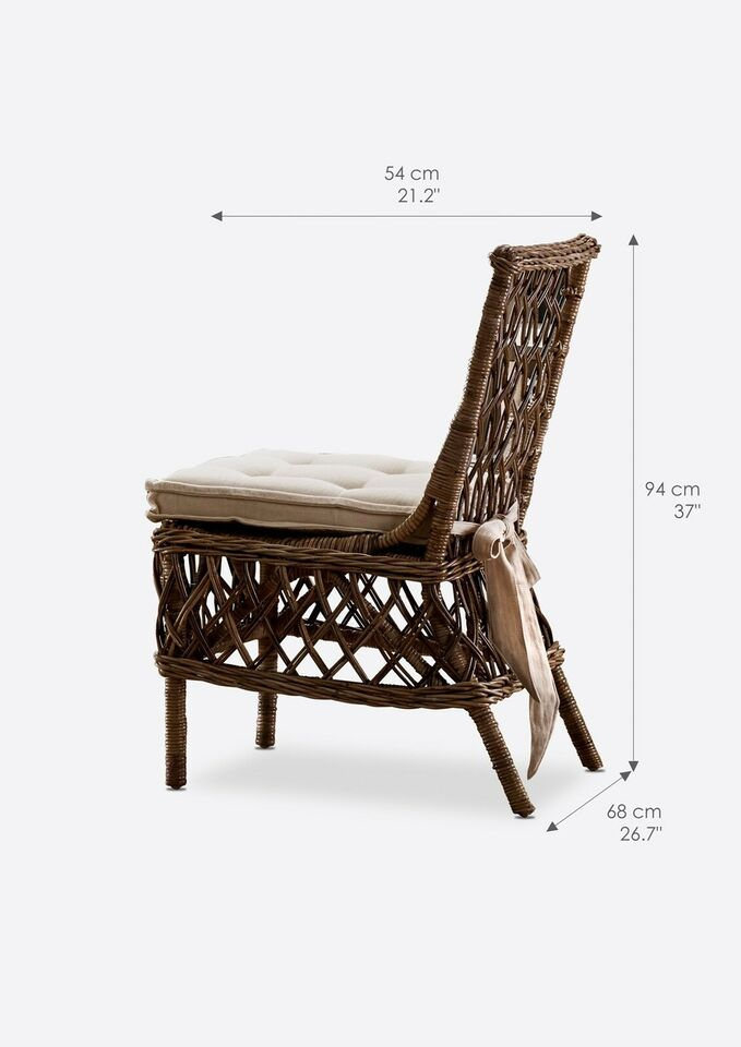 Spisebordsstol, Rattan, b: 56