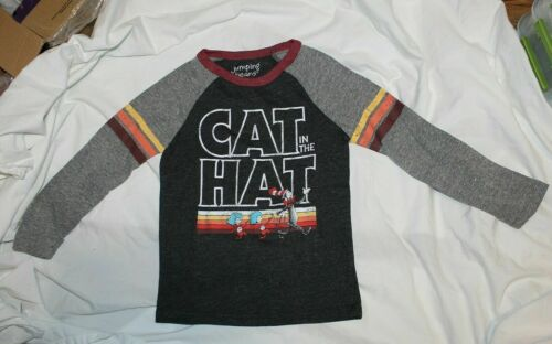 New Dr Seuss Cat in the Hat Long Sleeve Shirt Size 4 /& 5 Thing 1 Thing 2 Grey
