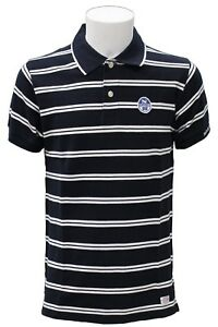 Maglia-polo-da-uomo-blu-NorthSails-a-righe-manica-corta-colletto-cotone-moda