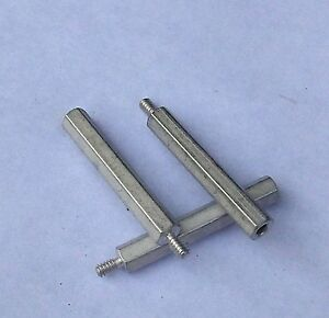 """4 3//8/"""" Hex Spacer 1/"""" Long 10-32 Threads Brass Qty"""