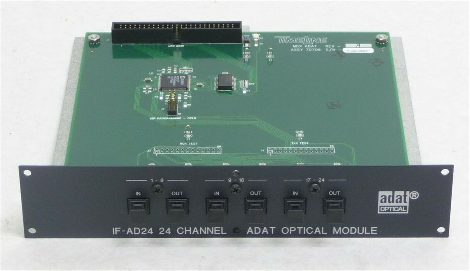NEW TASCAM IF-AD24  24 CHANNEL OPTICAL ADAT EXPANSION OPTION I O CARD MX-2424