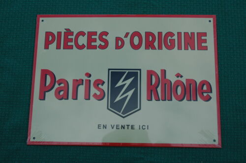 PLAQUE PUBLICITAIRE EN TOLE AGE D/'OR AUTOMOBILE N°79 PARIS RHONE 21X29 CM
