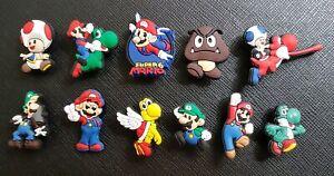 11 x Super Mario Shoe Charms PVC Rubber