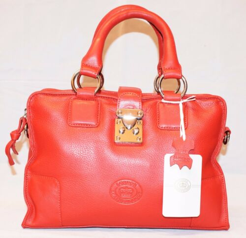 GENUINE LONDON LEATHER LADIES DESIGNER HANDBAG SHOULDER BAG IN GIFT BAG
