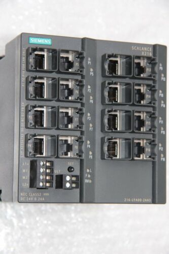 Siemens scalance x216 6gk5216-0ba00-2aa3 SIMATIC net industrial Ethernet Switch