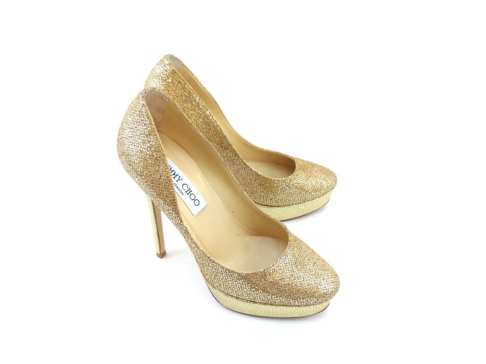 Jimmy Choo Cosmic gold Glitter Fabric [ 44% OFF RRP ]