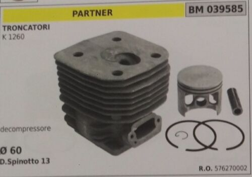 576270002 CYLINDER AND PISTON COMPLETE SAW PARTNER K 1260 VACUUM PUMP Ø 60