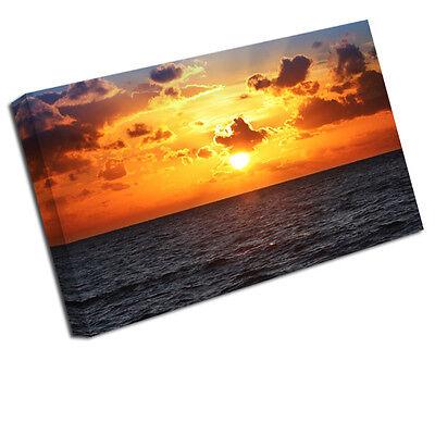 Sunset Sescape Landscapes Canvas art Print Picture LAN54