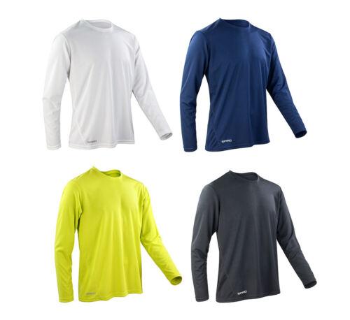 Schnelltrocknendes Herren langarm T-Shirt Funktionsshirt SPIRO