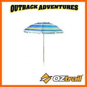 Image Is Loading Oztrail Meridian Beach Umbrella Large Heavy Duty Jumbo