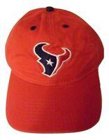 New NFL Adult Hat Houston Texans Football Logo Adjustable Red Cap OSFA