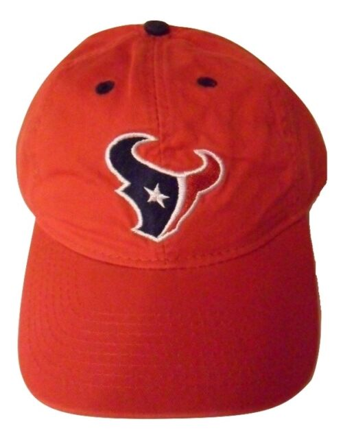 58c6d69c3 NFL Adult Hat Houston Texans Football Logo Adjustable Red Cap OSFA ...