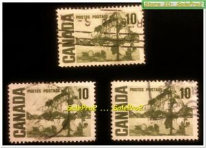 3x CANADA 1967 CANADIAN THE JACK PINE MINT FV FACE 30 CENT MUNH USED STAMP LOT