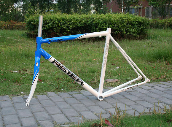 Aster Road Bike Alloy Frame   carbon Fork 56cm blu FREE SHIPPING AIRMAIL