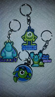 Disney Monsters Inc University Keychain Collection Sully And Mike