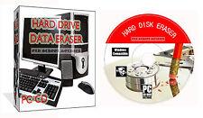 Erase Wipe Format Delete Hard Drive HDD Eraser Secure Erase Computer Wiper PC CD
