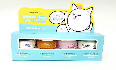 *ETUDE HOUSE* Skincare Cream Welcome Kit (10ml x 4pcs) - Korea Cosmetic