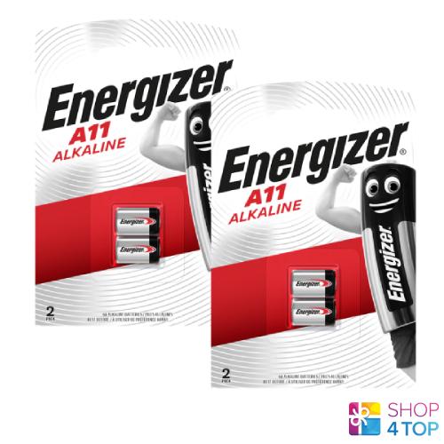 4 Energizer Alkaline a11 batteries 6v e11a 11a gp